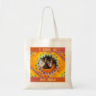 Kundenspezifische Liebe des Ratten-Foto-I meine Tragetasche