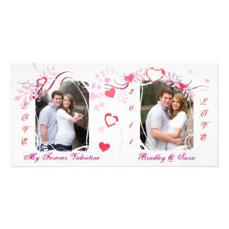 Kundenspezifische Liebe-Foto-Karte des Valentines Individuelle Foto Karte