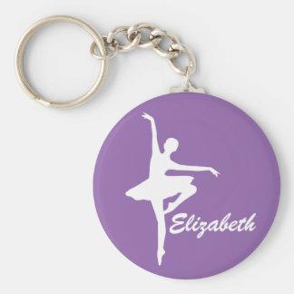 Kundenspezifische lila Ballerina Schlüsselanhänger