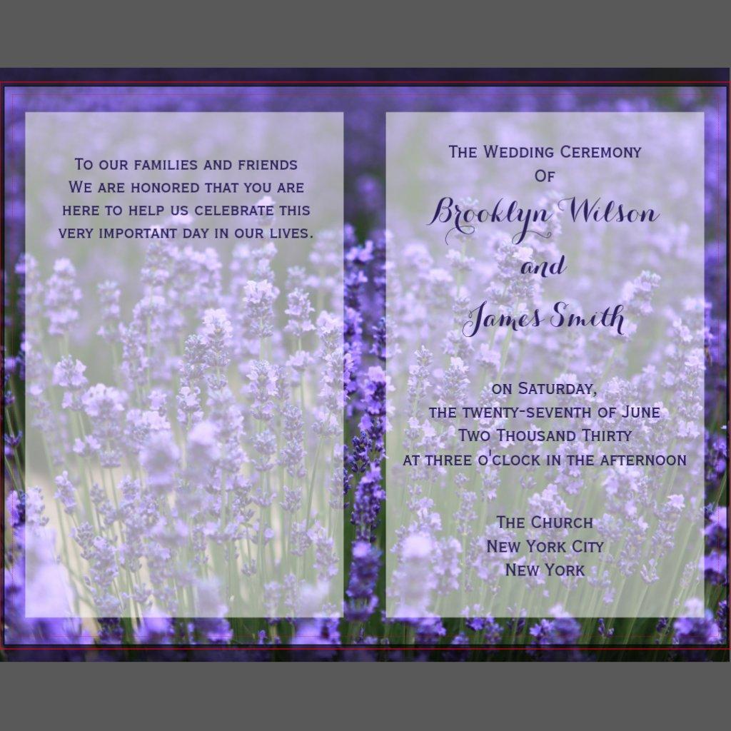Kundenspezifische Hochzeits-Programme
