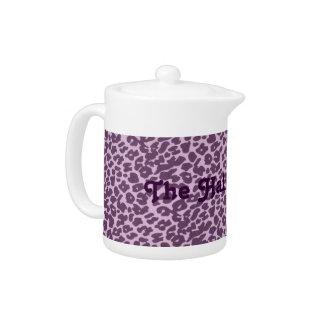 Kundenspezifische lila Leopard-Stelle
