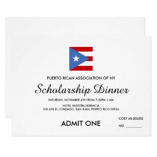 Kundenspezifische Logo-Ereignis-Karte: Puerto Rico Karte
