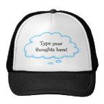 Kundenspezifische lustige Gedanken-Blasen-Kappen-S