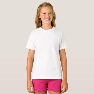 Kundenspezifische Mädchen grundlegender Hanes T - T-Shirt