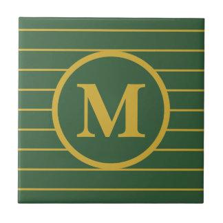 Kundenspezifische mit Monogramm Grün-und Keramikfliese