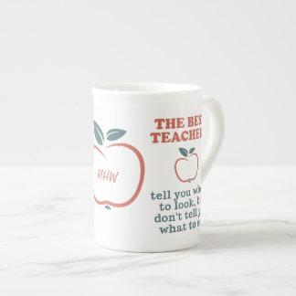 Kundenspezifische Monogramm-Tasse der BESTEN Porzellantasse