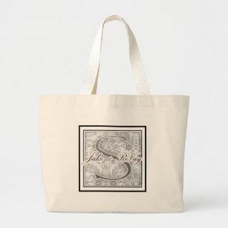 Kundenspezifische Monogrammhochzeit Einkaufstasche