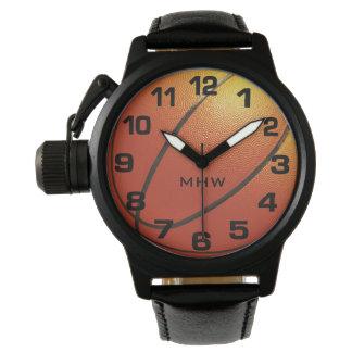 Kundenspezifische Monogrammuhren des Basketballs Uhr