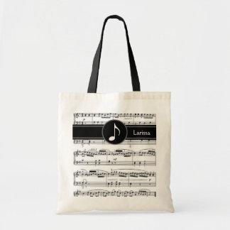 kundenspezifische musikalische budget stoffbeutel