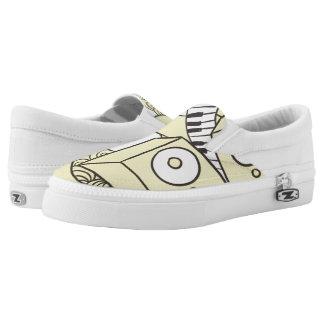 Kundenspezifische musikalische Klavier-Gekritzel Slip-On Sneaker