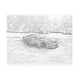 Kundenspezifische Mustang-Skizze Leinwanddruck