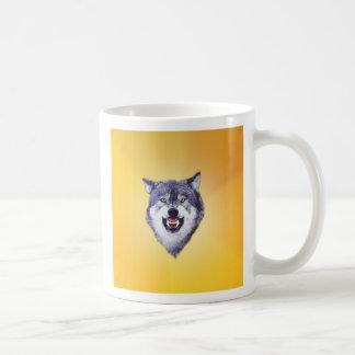 Kundenspezifische Mut-Wolf-Schablone Kaffeetasse