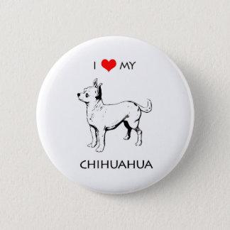 Kundenspezifische niedliche i-Liebe mein Chihuahua Runder Button 5,7 Cm