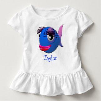 Kundenspezifische niedliche lustige Cartoon-Fische Kleinkind T-shirt