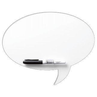 Kundenspezifische ovale Sprache-Blasen-trockenes Whiteboard