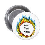 Kundenspezifische personalisierte Flammen-Knöpfe Anstecknadelbutton