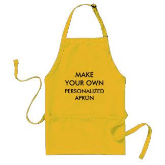 Kundenspezifische personalisierte gelbe schürze