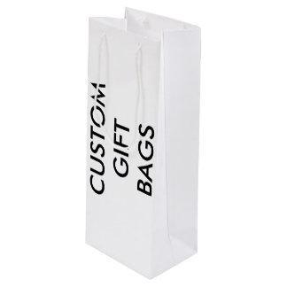 Kundenspezifische personalisierte geschenktüte für weinflaschen