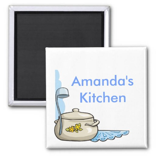 Kundenspezifische personalisierte Küchen-Magneten Quadratischer Magnet
