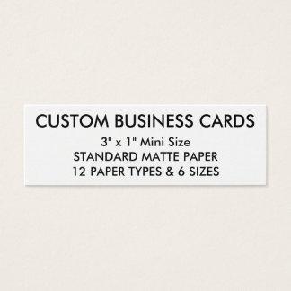 Kundenspezifische personalisierte mini visitenkarte