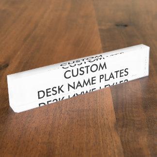 Kundenspezifische personalisierte schreibtischplakette
