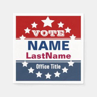 Kundenspezifische politische Wahlkampf-Schablone Serviette