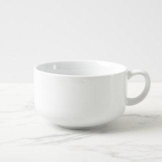 Kundenspezifische Porzellan-Suppen-Tasse des Große Suppentasse