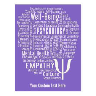 Kundenspezifische Postkarte der PSYCHOLOGIE