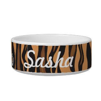 Kundenspezifische Prinzessin Tiger Print Food Dish Napf