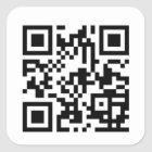 Kundenspezifische QR Code-Aufkleber Quadratischer Aufkleber
