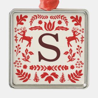 Kundenspezifische Quadratisches Silberfarbenes Ornament