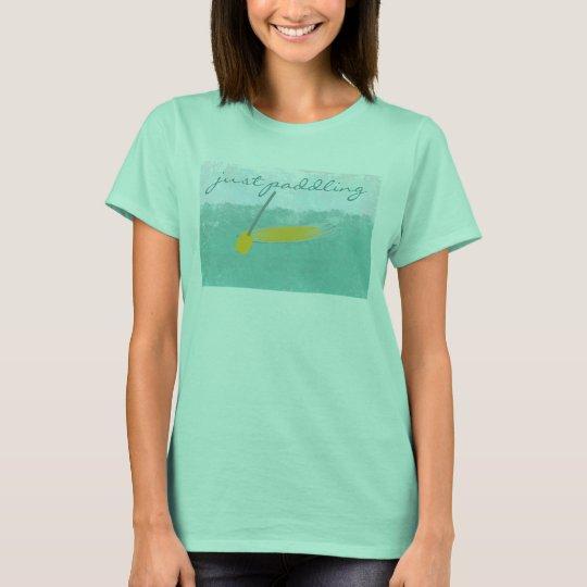Kundenspezifische Reise-Seeferien gerade Puddling T-Shirt
