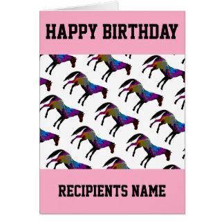 Kundenspezifische Rennpferd-Geburtstags-Karte Karte