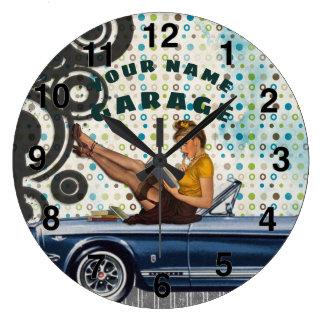 Kundenspezifische RETRO Garagen-UhrVintages Große Wanduhr