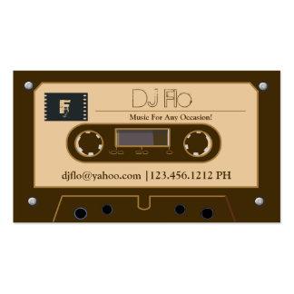 Kundenspezifische Retro Kassette DJ-Visitenkarten Visitenkarten