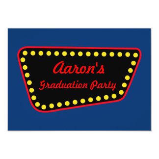 Kundenspezifische Retro Vegas-Abschluss-Party Karte