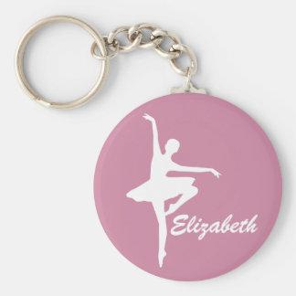 Kundenspezifische rosa Ballerina Schlüsselanhänger