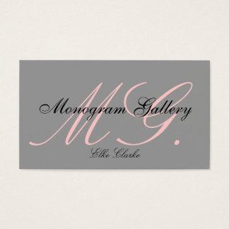 Kundenspezifische rosa graues visitenkarten
