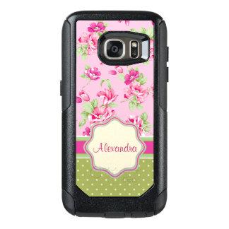 Kundenspezifische rosa u. violette Rote Rosen u. OtterBox Samsung Galaxy S7 Hülle