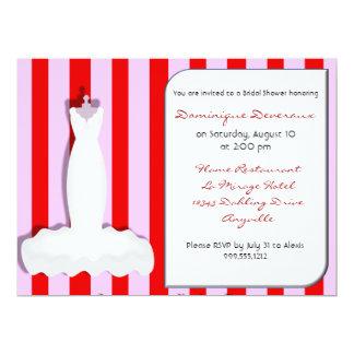 Kundenspezifische rosa und rote 16,5 x 22,2 cm einladungskarte