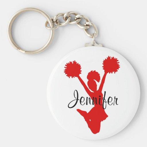 Kundenspezifische rote Cheerleader-Schlüsselkette Schlüsselband