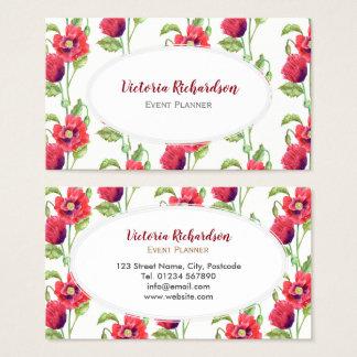 Kundenspezifische rote visitenkarte