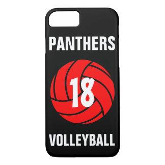 Kundenspezifische rote Volleyball-Zahl u. iPhone 8/7 Hülle