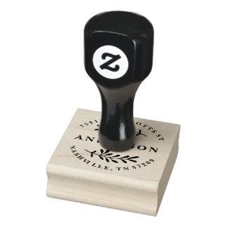 Kundenspezifische Rücksendeadresse-Briefmarke mit Gummistempel