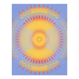 Kundenspezifische Schablone: Orange u. gelber Radi 21,6 X 27,9 Cm Flyer