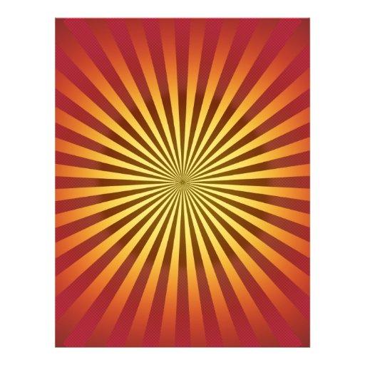 Kundenspezifische Schablone: Steigungs-Radialstrah Bedruckte Flyer
