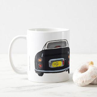 Kundenspezifische schwarze Nissan Figaro Kaffeetasse