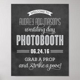 Kundenspezifische schwarze Tafel des Hochzeits-Fot