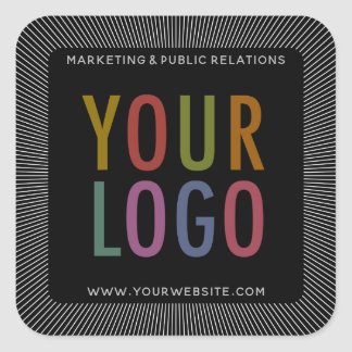 Kundenspezifische schwarzes Quadrat-Aufkleber mit Quadratischer Aufkleber