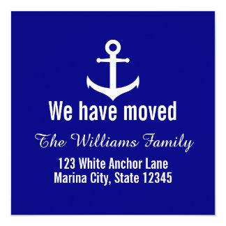 Kundenspezifische Seemarine-Blau-bewegliche Karte